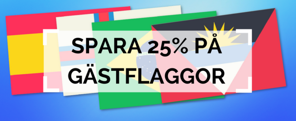 Spara 25% på gästflaggor